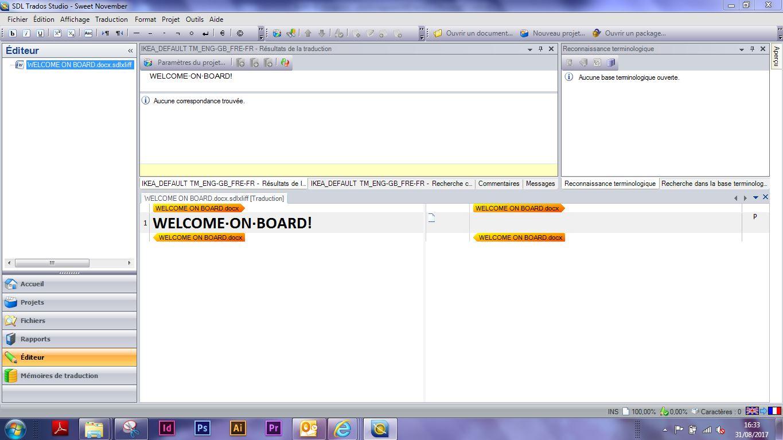 Traduction sur SDL Studio 2011