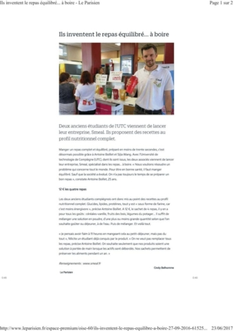 Article Smeal leparisien.fr